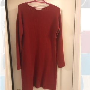 STEFANEL Red Casual Coton Dress